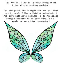 Load image into Gallery viewer, PNG FAIRY WINGS for CRICUT - Set 21