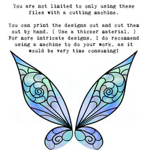 Load image into Gallery viewer, PNG FAIRY WINGS for CRICUT - Set 26
