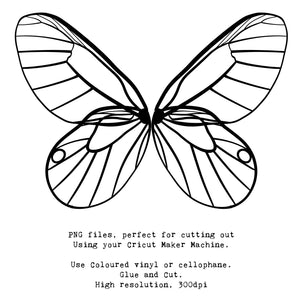 PNG FAIRY WINGS for CRICUT - Set 17