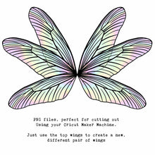 Load image into Gallery viewer, PNG FAIRY WINGS for CRICUT - Set 18