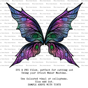 PNG FAIRY WINGS for CRICUT - Set 19