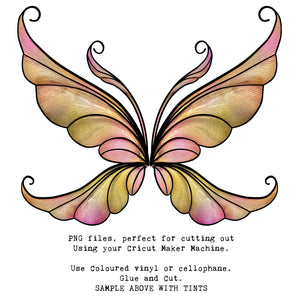 PNG FAIRY WINGS for CRICUT - Set 21