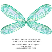 Load image into Gallery viewer, PNG FAIRY WINGS for CRICUT - Set 22