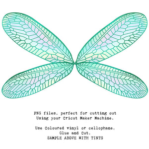 PNG FAIRY WINGS for CRICUT - Set 22