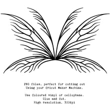 Load image into Gallery viewer, PNG FAIRY WINGS for CRICUT - Set 25