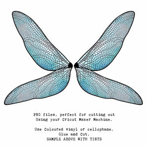 PNG FAIRY WINGS for CRICUT - Set 8