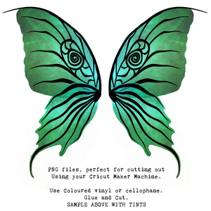 PNG FAIRY WINGS for CRICUT - Set 9