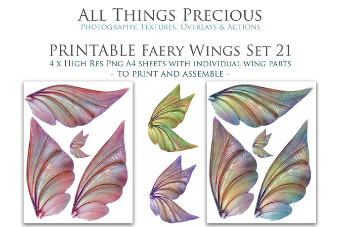 PRINTABLE FAIRY WINGS for Art Dolls - Set 21