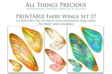 Load image into Gallery viewer, PRINTABLE FAIRY WINGS for Art Dolls - Set 27