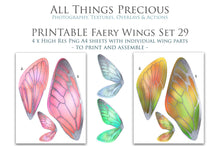 Load image into Gallery viewer, PRINTABLE FAIRY WINGS for Art Dolls - Set 29