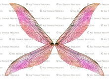 Load image into Gallery viewer, PRINTABLE FAIRY WINGS for Art Dolls - Set 25