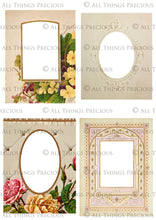 Load image into Gallery viewer, VINTAGE CABINET CARDS Set 2 - Clipart Frames