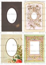 Load image into Gallery viewer, VINTAGE CABINET CARDS Set 3 - Clipart Frames