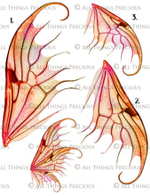 Load image into Gallery viewer, PRINTABLE FAIRY WINGS for Art Dolls - Set 9