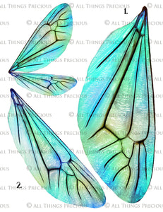 PRINTABLE FAIRY WINGS for Art Dolls - Set 15