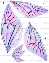 Load image into Gallery viewer, PRINTABLE FAIRY WINGS for Art Dolls - Set 17