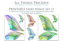 Load image into Gallery viewer, PRINTABLE FAIRY WINGS for Art Dolls - Set 11
