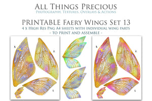 PRINTABLE FAIRY WINGS for Art Dolls - Set 13