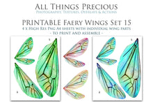 Load image into Gallery viewer, PRINTABLE FAIRY WINGS for Art Dolls - Set 15