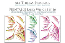 Load image into Gallery viewer, PRINTABLE FAIRY WINGS for Art Dolls - Set 16