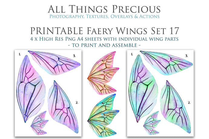 PRINTABLE FAIRY WINGS for Art Dolls - Set 17