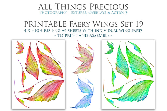 PRINTABLE FAIRY WINGS for Art Dolls - Set 19