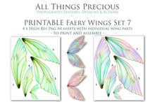 Load image into Gallery viewer, PRINTABLE FAIRY WINGS for Art Dolls - Set 7