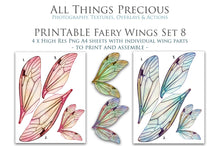 Load image into Gallery viewer, PRINTABLE FAIRY WINGS for Art Dolls - Set 8