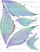 Load image into Gallery viewer, PRINTABLE FAIRY WINGS for Art Dolls - Set 10