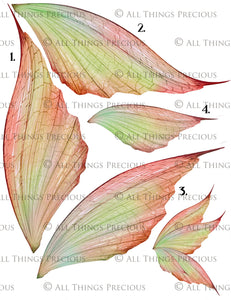 PRINTABLE FAIRY WINGS for Art Dolls - Set 10