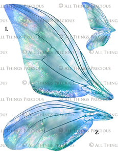 PRINTABLE FAIRY WINGS for Art Dolls - Set 11