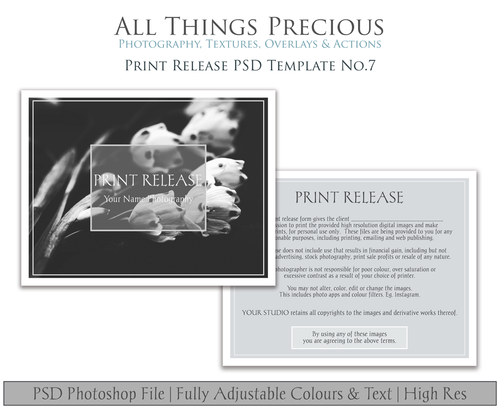 PRINT RELEASE - PSD Template No. 7