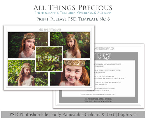 PRINT RELEASE - PSD Template No. 8