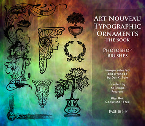 PHOTOSHOP BRUSHES - Art Nouveau Page 16 & 17 - FREE DOWNLOAD