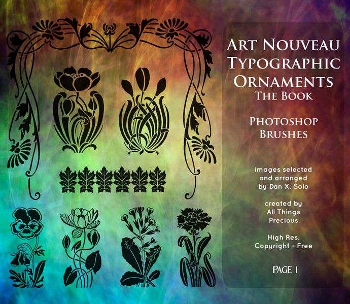 PHOTOSHOP BRUSHES - Art Nouveau Page 1 - FREE DOWNLOAD