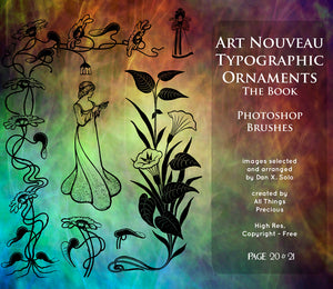 PHOTOSHOP BRUSHES - Art Nouveau Page 20 & 21 - FREE DOWNLOAD