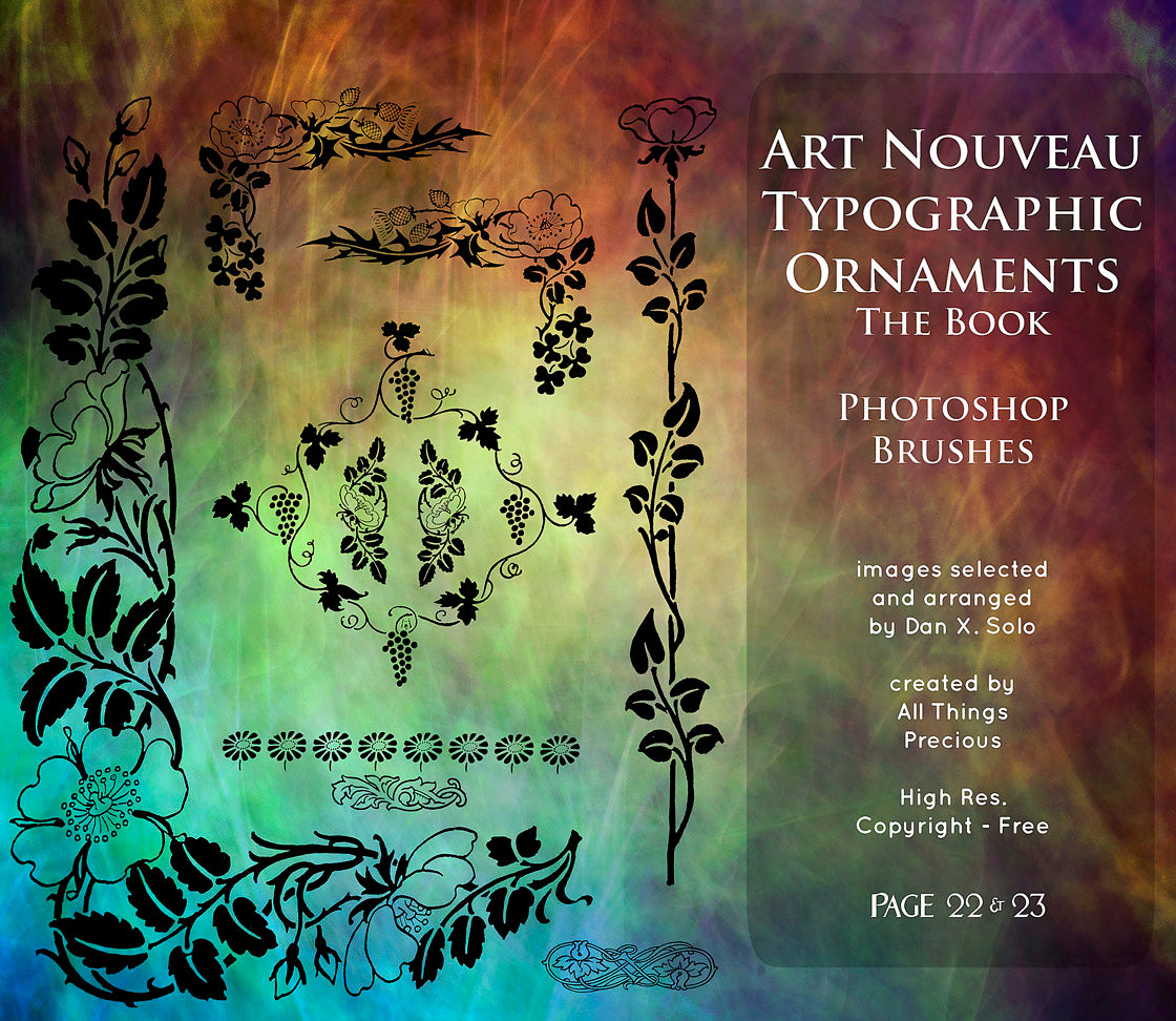PHOTOSHOP BRUSHES - Art Nouveau Page 22 & 23 - FREE DOWNLOAD