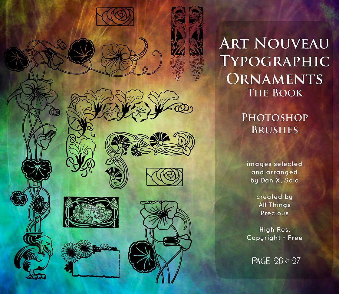 PHOTOSHOP BRUSHES - Art Nouveau Page 26 & 27 - FREE DOWNLOAD