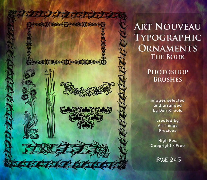 PHOTOSHOP BRUSHES - Art Nouveau Page 2 & 3 - FREE DOWNLOAD