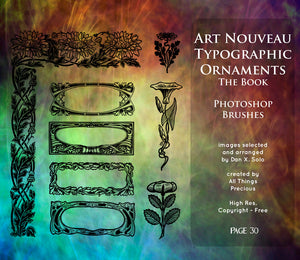 PHOTOSHOP BRUSHES - Art Nouveau Page 30 - FREE DOWNLOAD