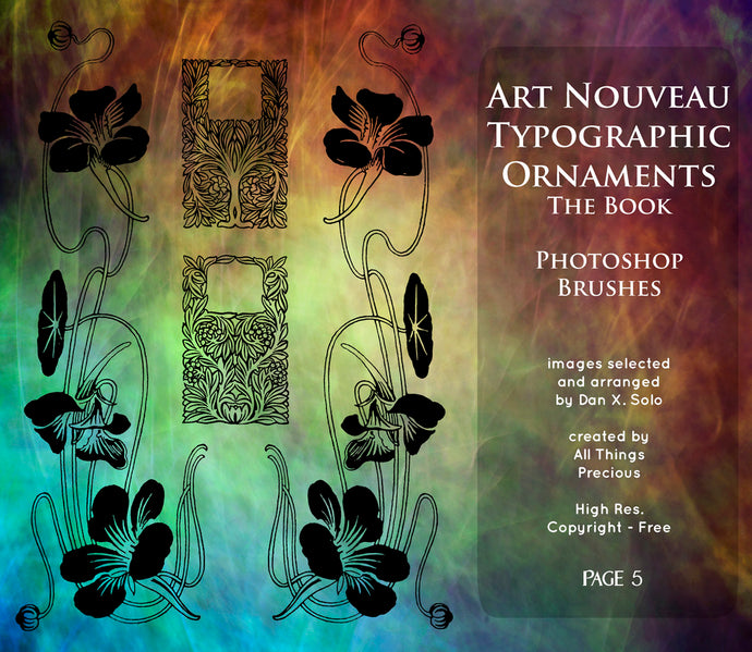 PHOTOSHOP BRUSHES - Art Nouveau Page 5 - FREE DOWNLOAD
