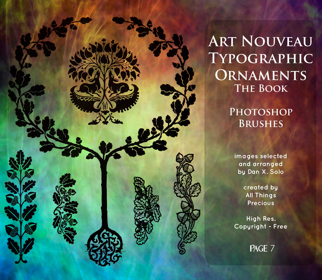 PHOTOSHOP BRUSHES - Art Nouveau Page 7 - FREE DOWNLOAD