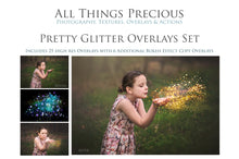 Load image into Gallery viewer, PRETTY GLITTER Digital Overlays