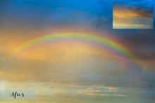 Load image into Gallery viewer, PNG RAINBOW SKY Digital Overlays