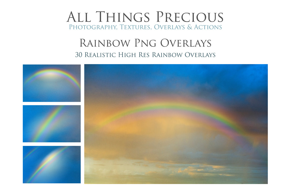 PNG RAINBOW SKY Digital Overlays