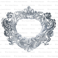 Load image into Gallery viewer, VINTAGE ORNAMENTAL SILVER Frames - Clipart
