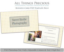 Load image into Gallery viewer, BUSINESS CARD - PSD Template No. 4