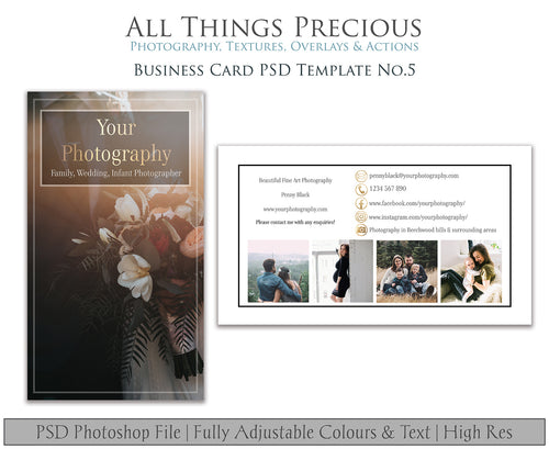 BUSINESS CARD - PSD Template No. 5