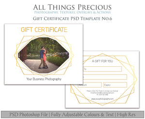GIFT CERTIFICATE - PSD Template No. 6