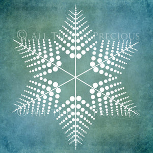 SNOWFLAKE PHOTOSHOP BRUSHES With Clipart - Set 3